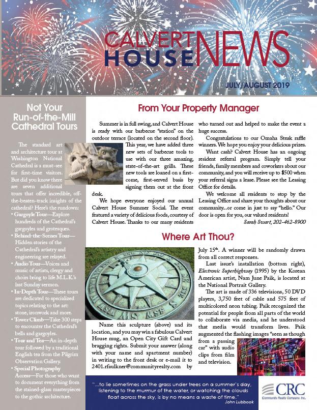 July/August 2019 Newsletter