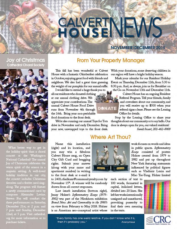 November/December 2019 Newsletter