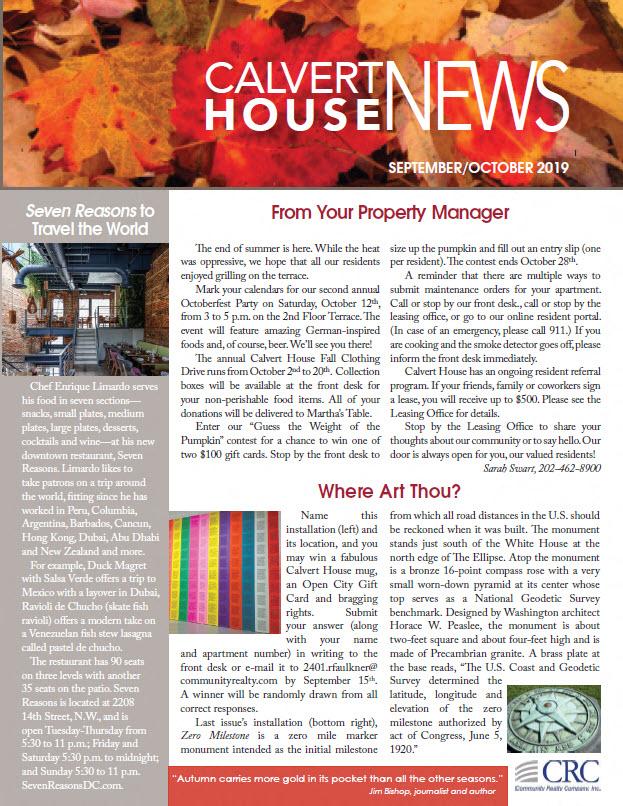 September/October 2019 Newsletter